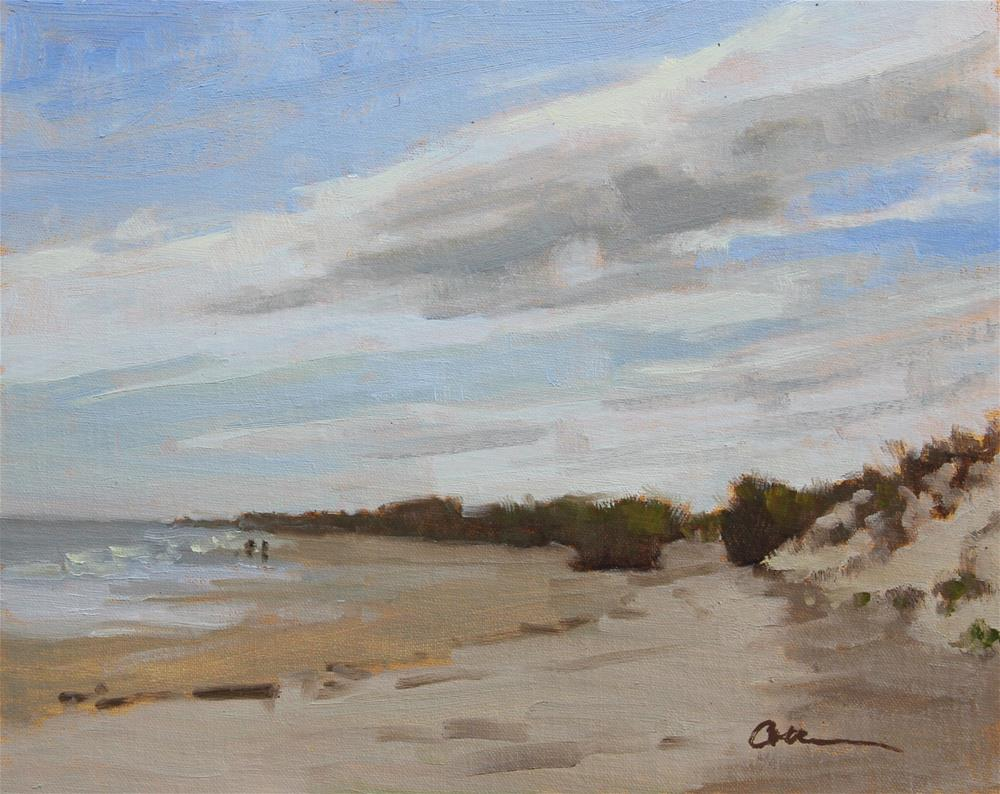 """Beach Stroll"" original fine art by Colleen Parker"