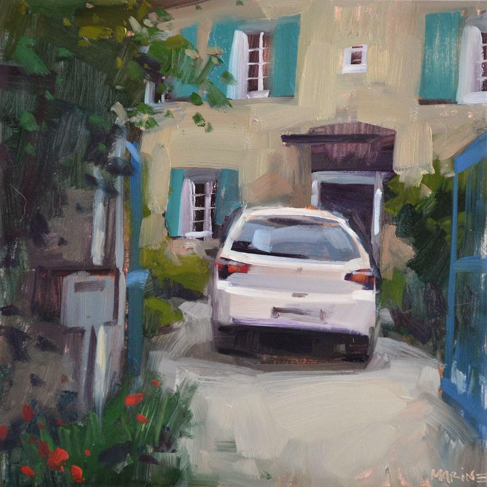 """""""French Driveway"""" original fine art by Carol Marine"""