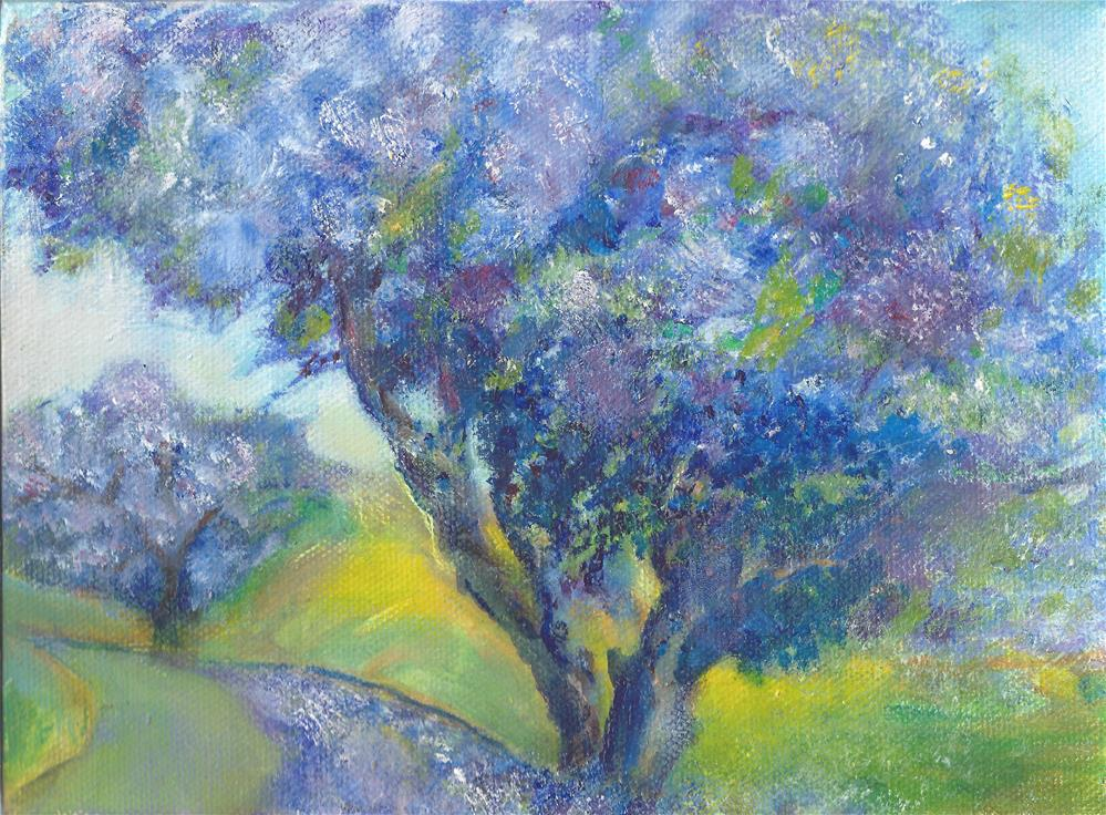 """Kula jacaranda"" original fine art by Elizabeth Current"