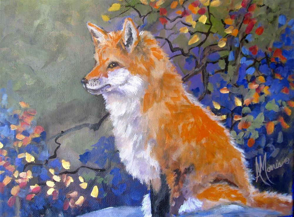 """Autumn Fox"" original fine art by Andrea Morris"