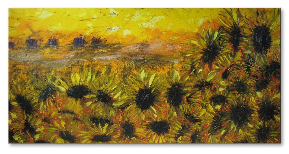 """Sunflowers field"" original fine art by Elena Lunetskaya"