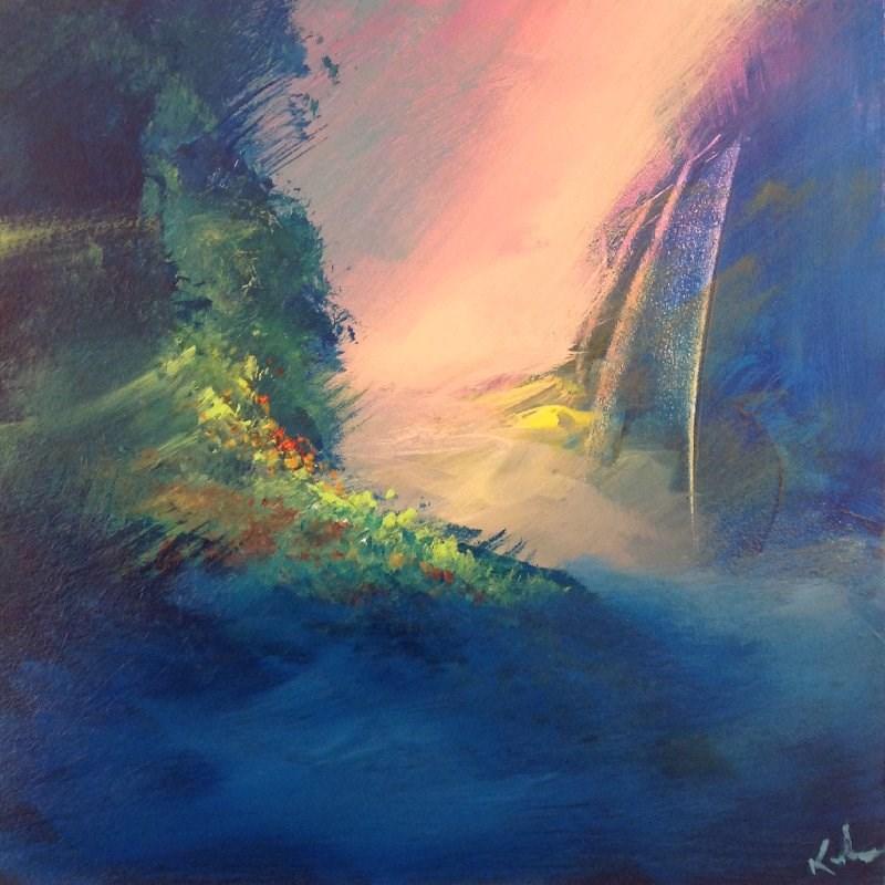 """""""Corner of a Dream"""" original fine art by David Kuhn"""
