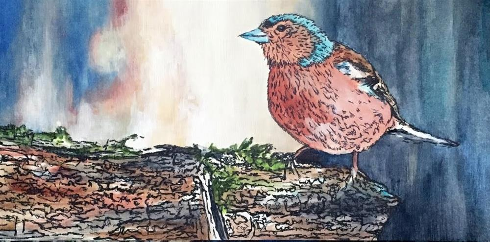 """Blue Headed Peep"" original fine art by Nan Johnson"