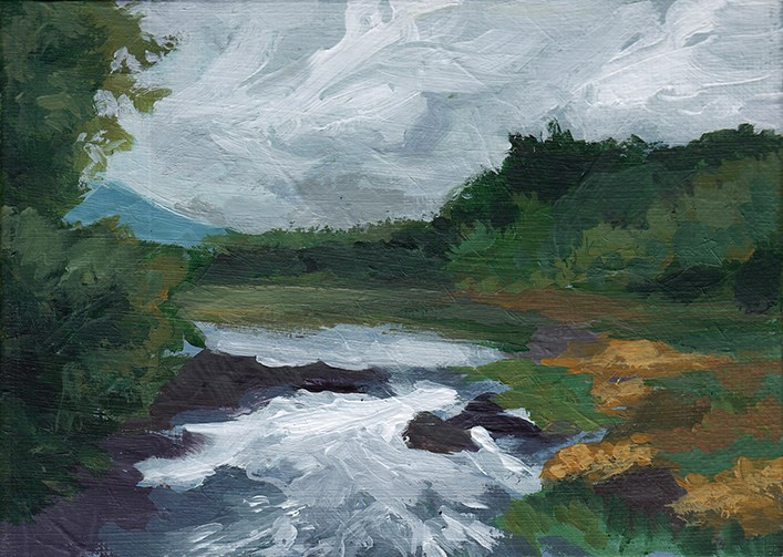 """Rushing River"" original fine art by J M Needham"