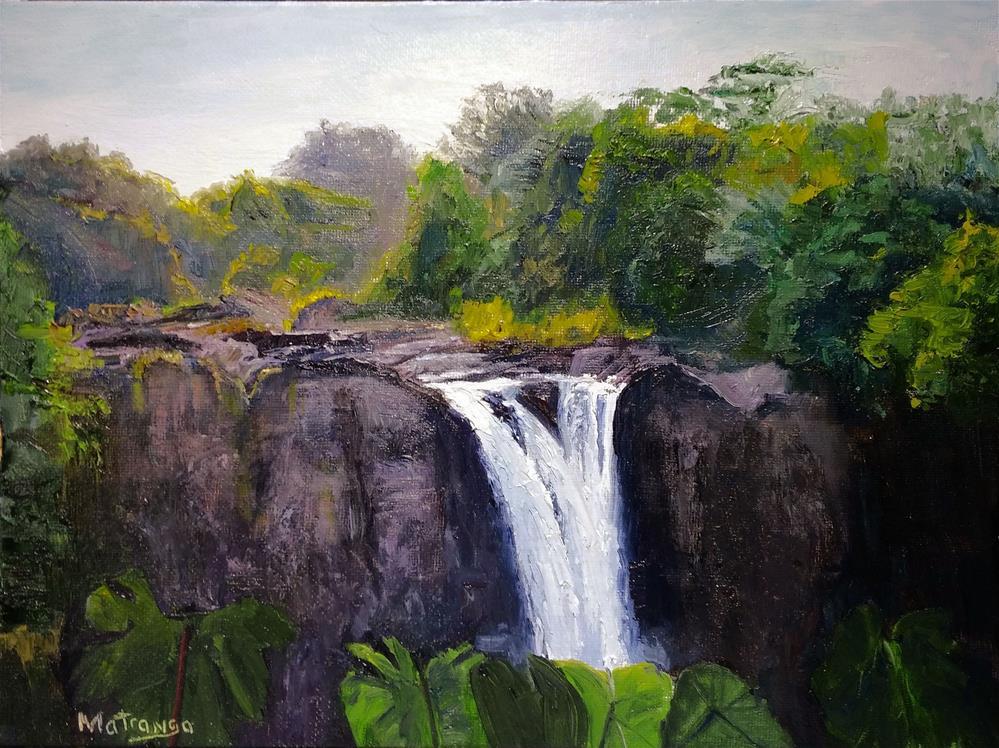 """Rainbow Falls - Hawaii"" original fine art by Patricia Matranga"