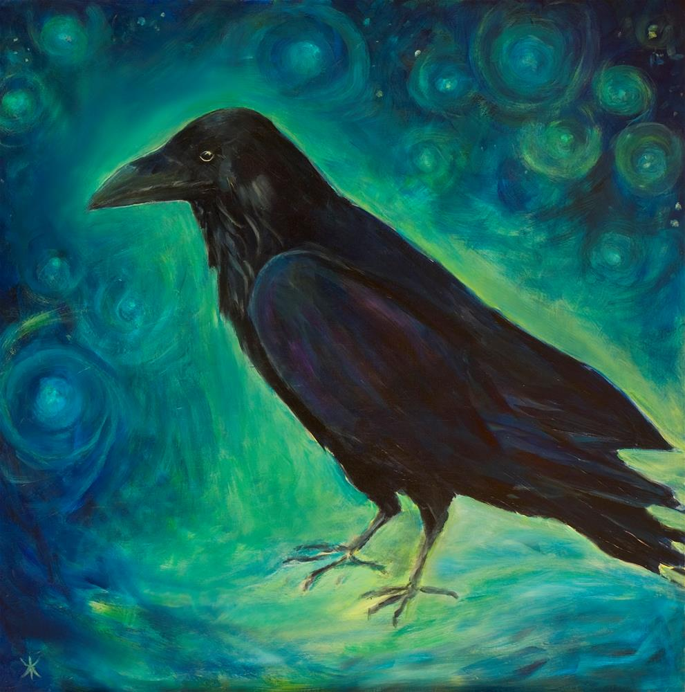 """Star Raven"" original fine art by Yulia Kazansky"