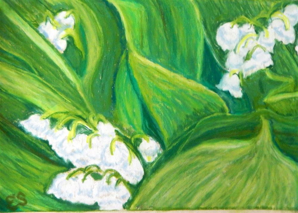 """Lillies of the Valley"" original fine art by Elaine Shortall"