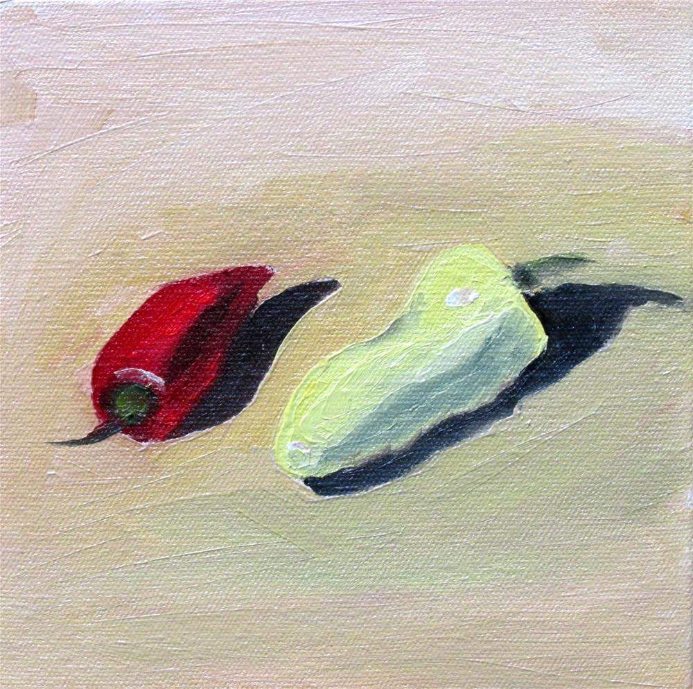 """""""Little Chilis"""" original fine art by Will Dargie"""