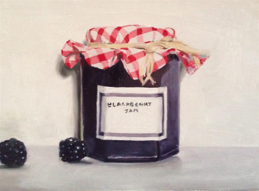 """Blackberry Jam"" original fine art by James Coates"