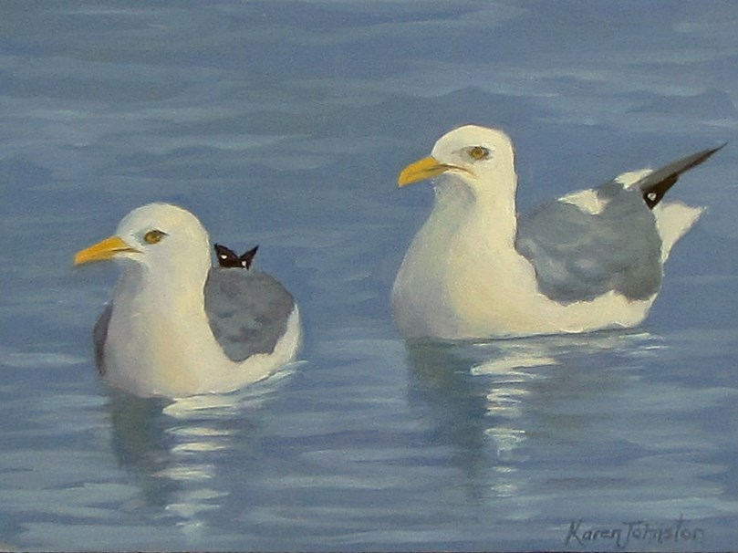 """Swim Team"" original fine art by Karen Johnston"