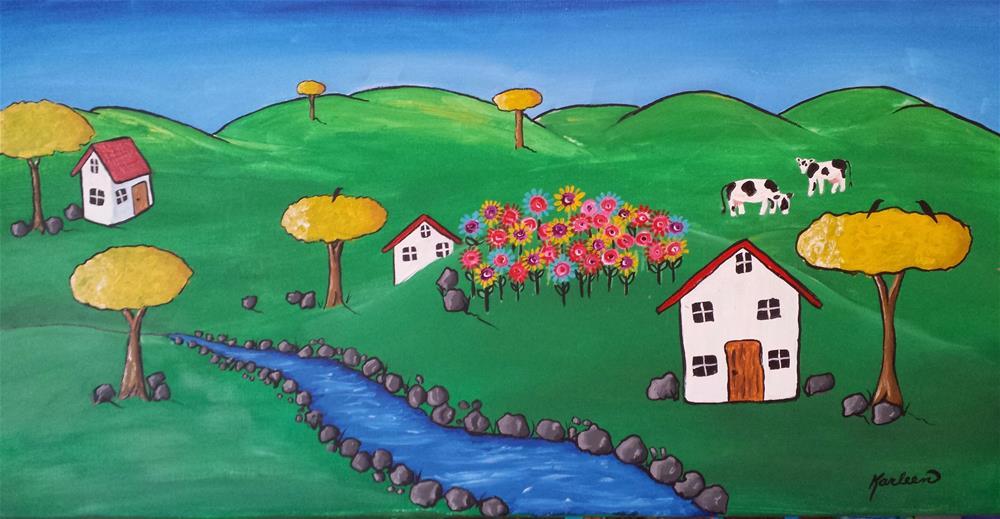 """The Flower Patch"" original fine art by Karleen Kareem"