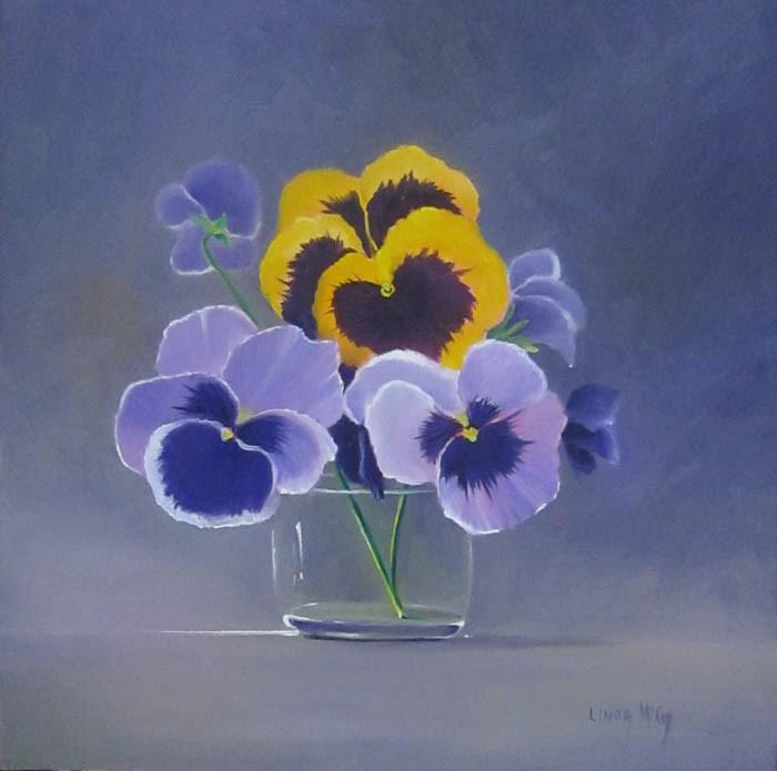 """Last Waltz, Pansy Oil Painting by Linda McCoy"" original fine art by Linda McCoy"