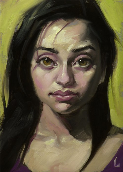 """Peepers"" original fine art by John Larriva"
