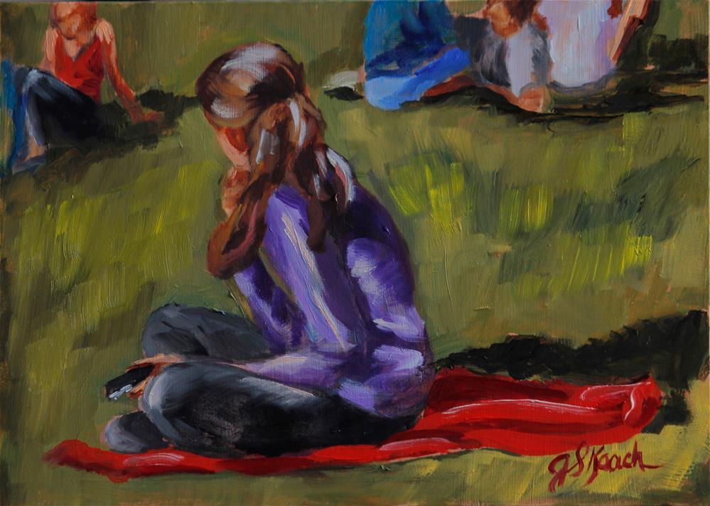 """""""City Grass"""" original fine art by Jennifer Koach"""