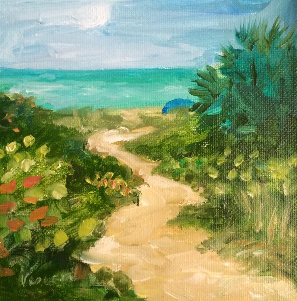 """Path to Delray Beach 4"" original fine art by Valerie Vescovi"