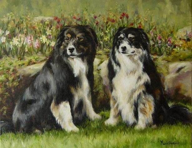 """""""Emmy and Katie"""" original fine art by Maria Levandowski"""
