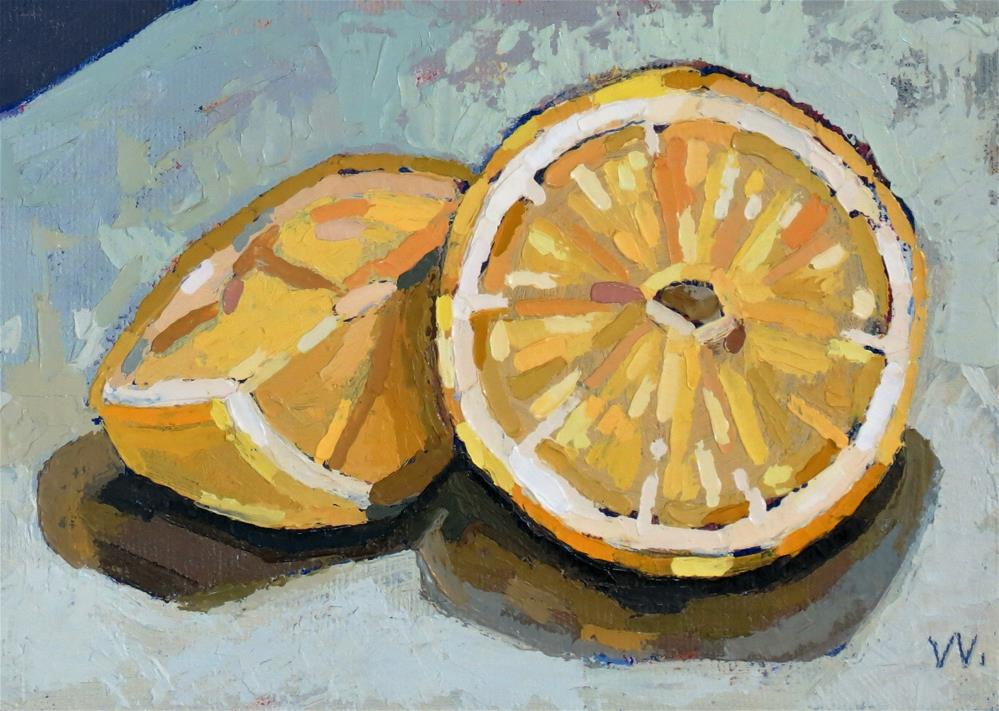 """Make Lemonade"" original fine art by Joan Wiberg"