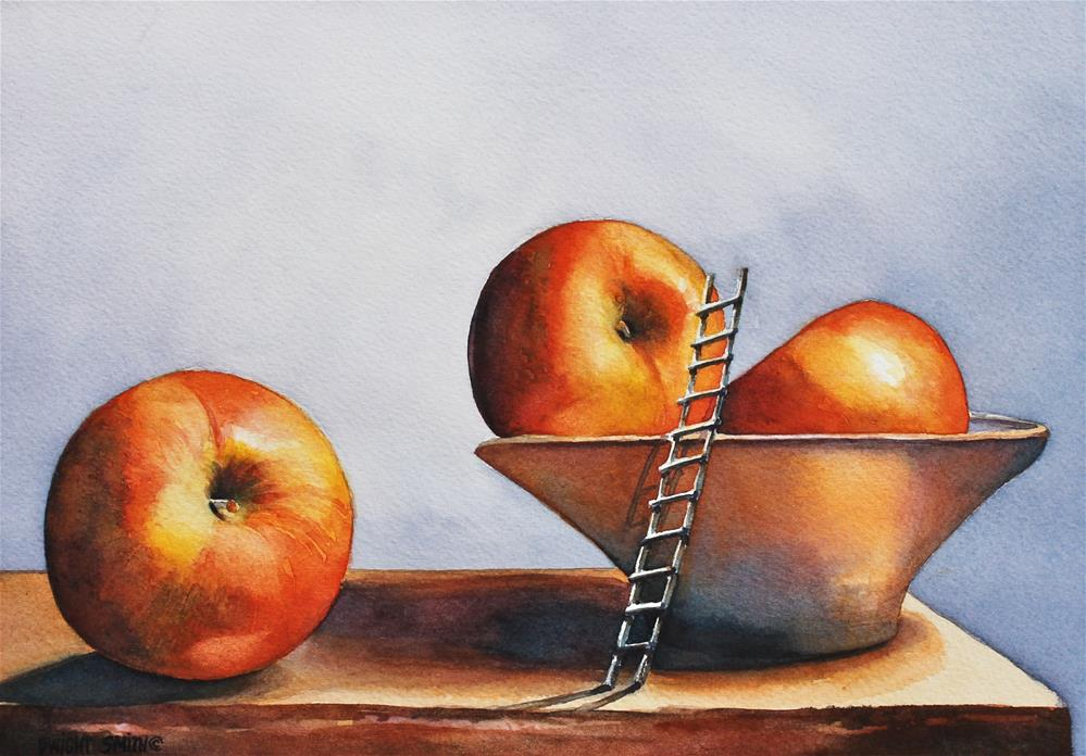 """ THE APPLE PICKER "" original fine art by Dwight Smith"