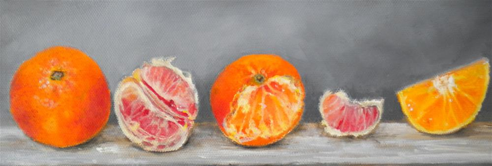 """Citrus"" original fine art by Hilarie Johnson"