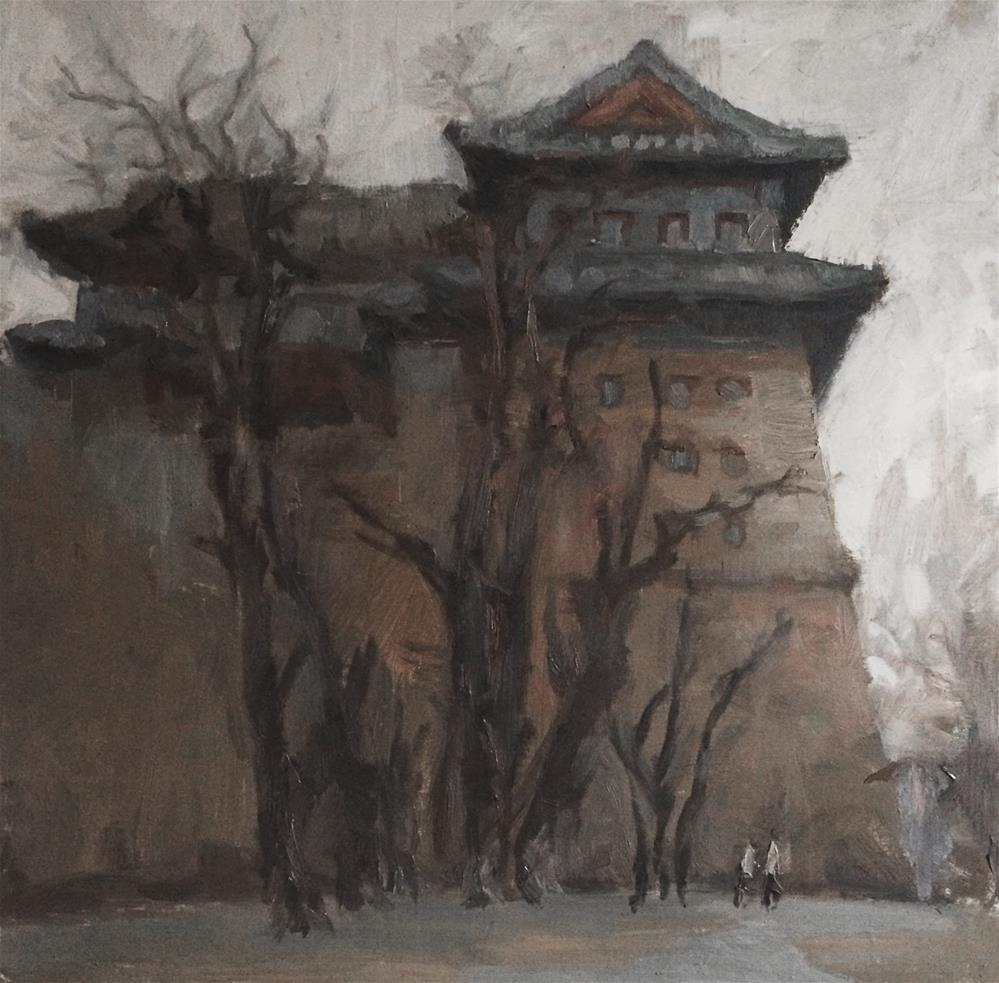 """""""building"""" original fine art by Yuehua He"""