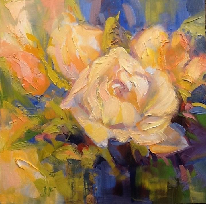 """""""Roses"""" original fine art by Jean Fitzgerald"""