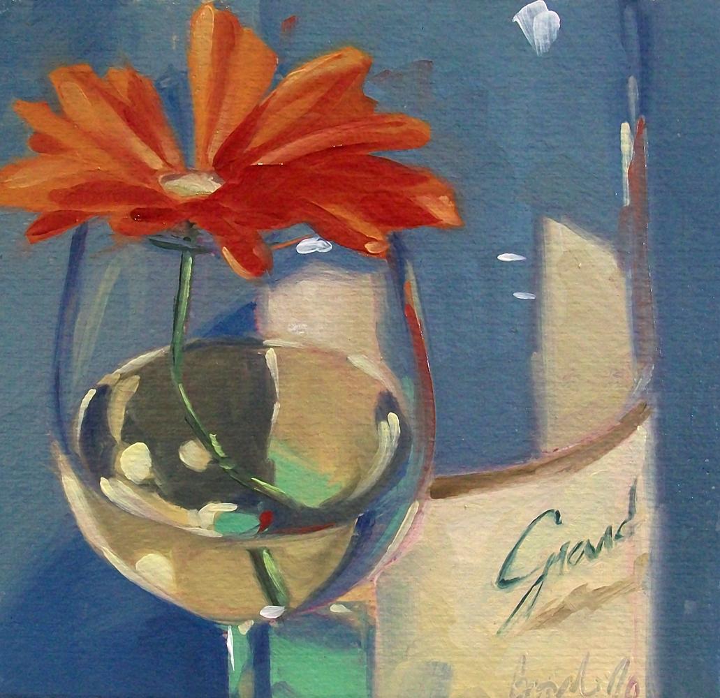 """wino daisy5"" original fine art by Brandi Bowman"