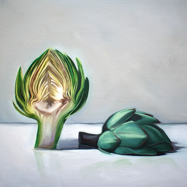 """Sliced Artichoke"" original fine art by Lauren Pretorius"