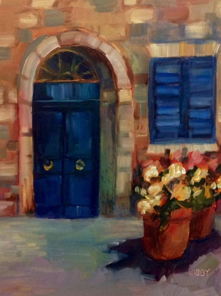 """Arched Door"" original fine art by Libby Anderson"