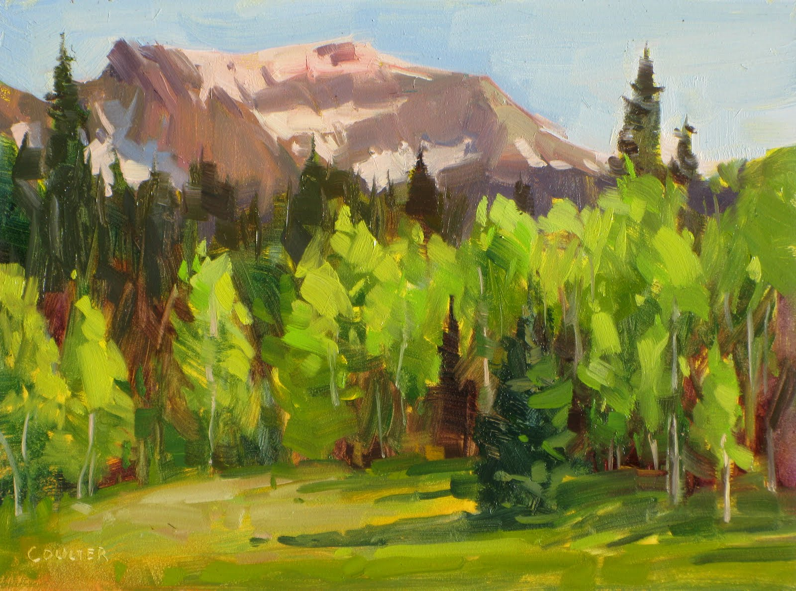 """MOUNTAIN SUMMER"" original fine art by James Coulter"