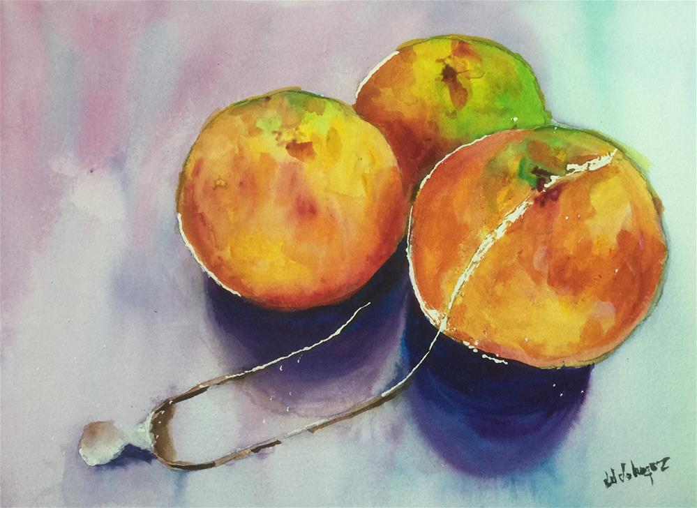"""Pearl and Oranges"" original fine art by Juan Velasquez"