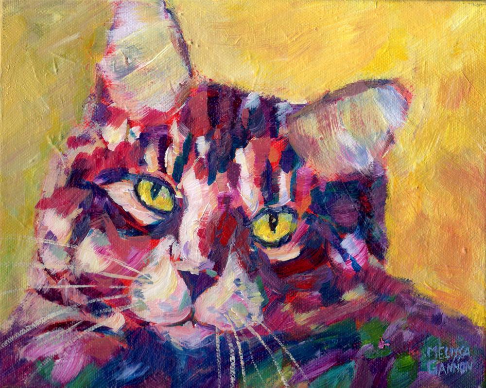 """Kitty Love"" original fine art by Melissa Gannon"