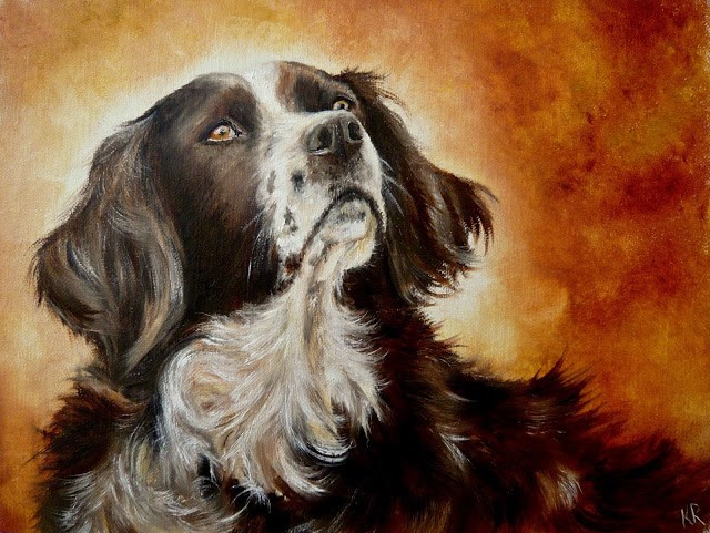 """An Old Friend"" original fine art by Karen Robinson"