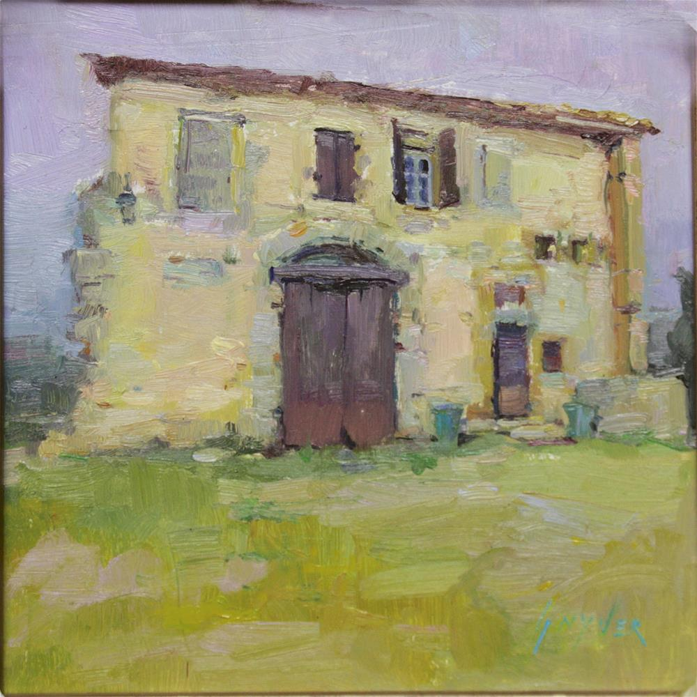 """Provence - Wooden Door"" original fine art by Julie Snyder"