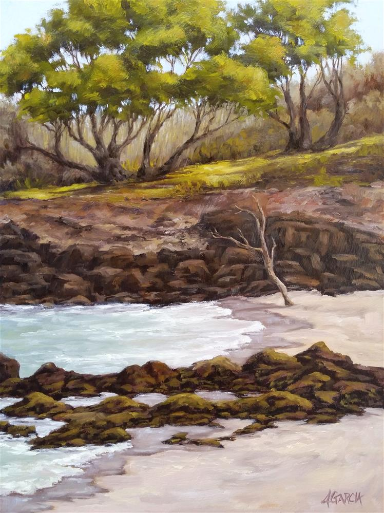 """Waialea Bay"" original fine art by Jeannie Garcia"
