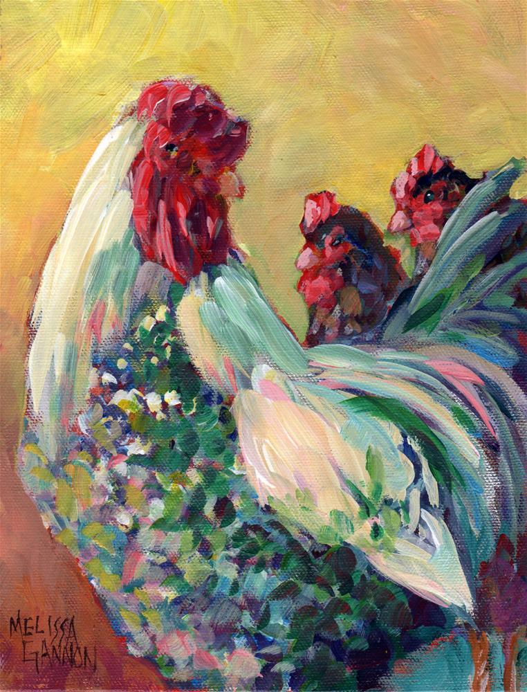 """Barnyard Romance"" original fine art by Melissa Gannon"