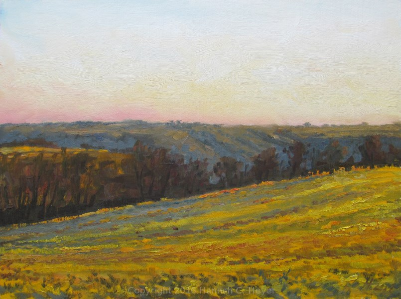 """Evening Impression"" original fine art by Hannah C. Heyer"