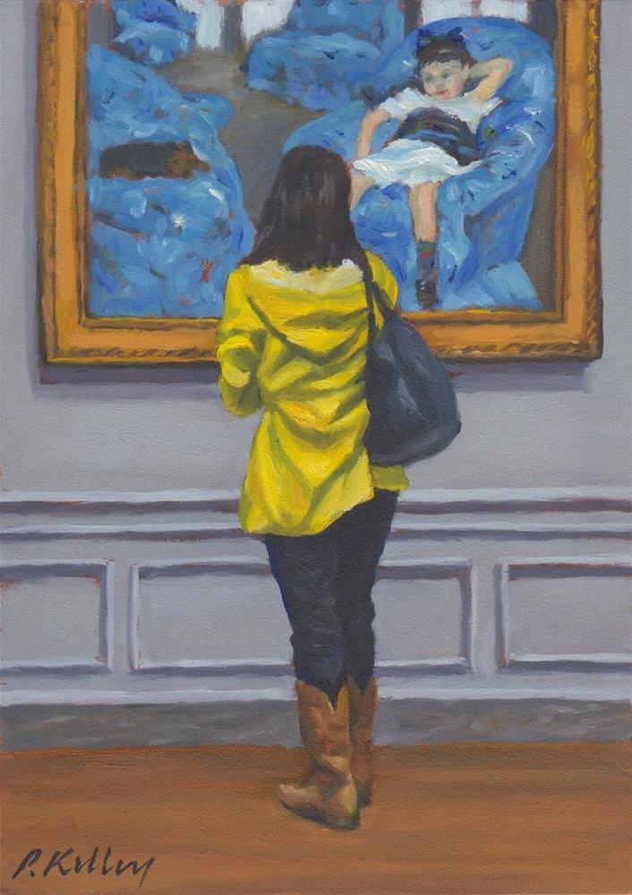 """Viewing Mary Cassatt"" original fine art by Pat Kelley"