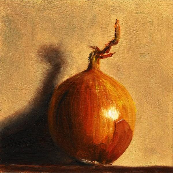 """Standing Onion"" original fine art by Peter J Sandford"