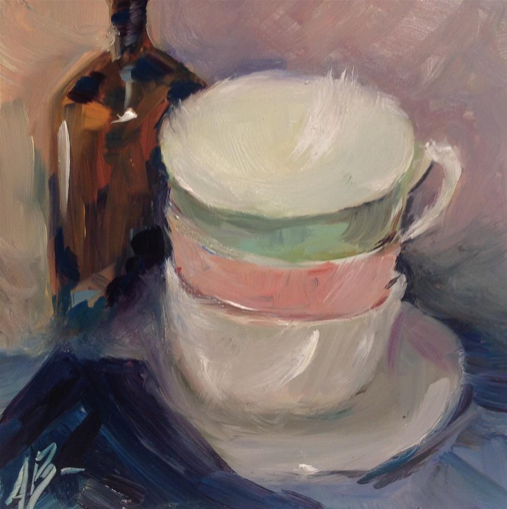 """Ready for coffee break"" original fine art by Annette Balesteri"