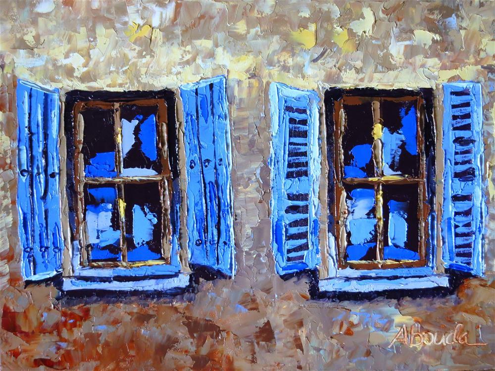 """French Windows"" original fine art by Sandy Abouda"
