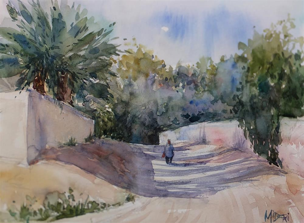 """AL Ain at 8am"" original fine art by Midori Yoshino"