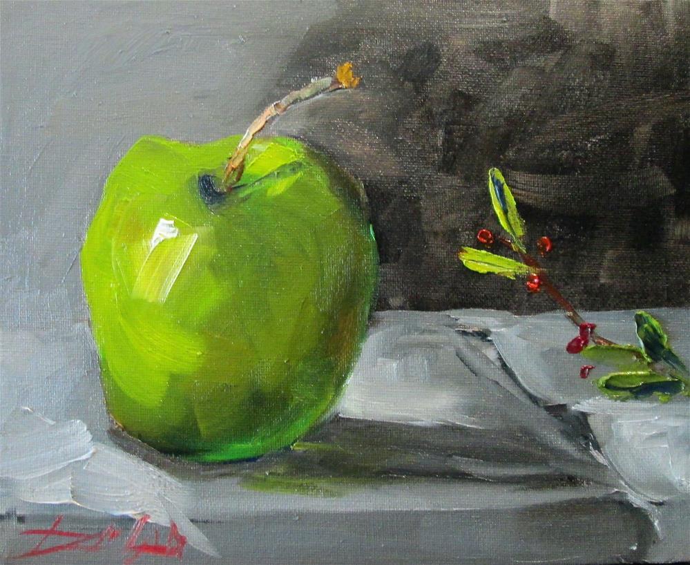 """Green Apple"" original fine art by Delilah Smith"