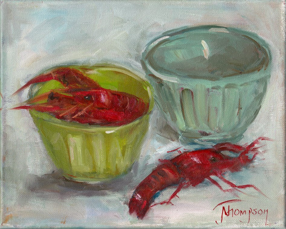 """Misplaced Crawfish"" original fine art by Norma Thompson"
