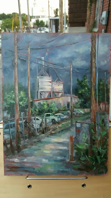 """The Mill from the Alley"" original fine art by Tammie Dickerson"