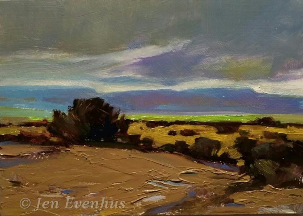 """Leaving Albuquerque"" original fine art by Jennifer Evenhus"