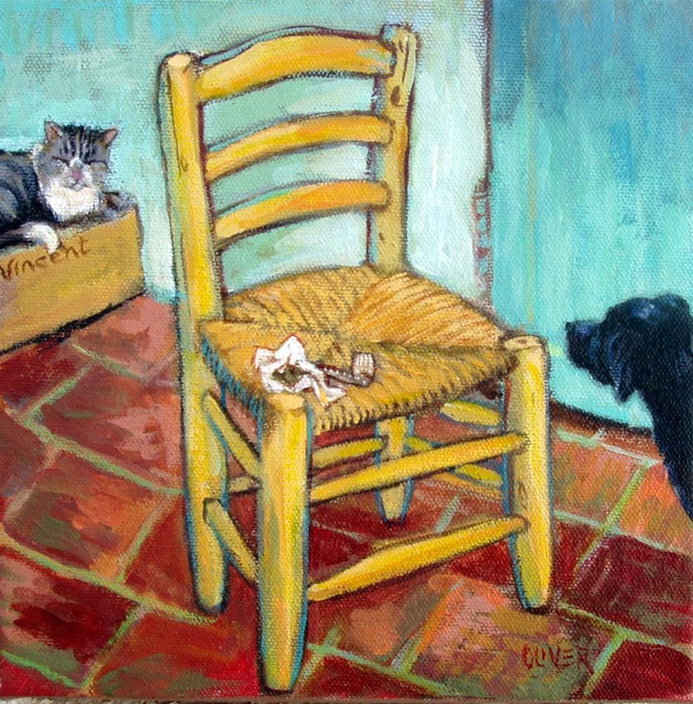 """""""Vincent's Pets"""" original fine art by Julie Ford Oliver"""