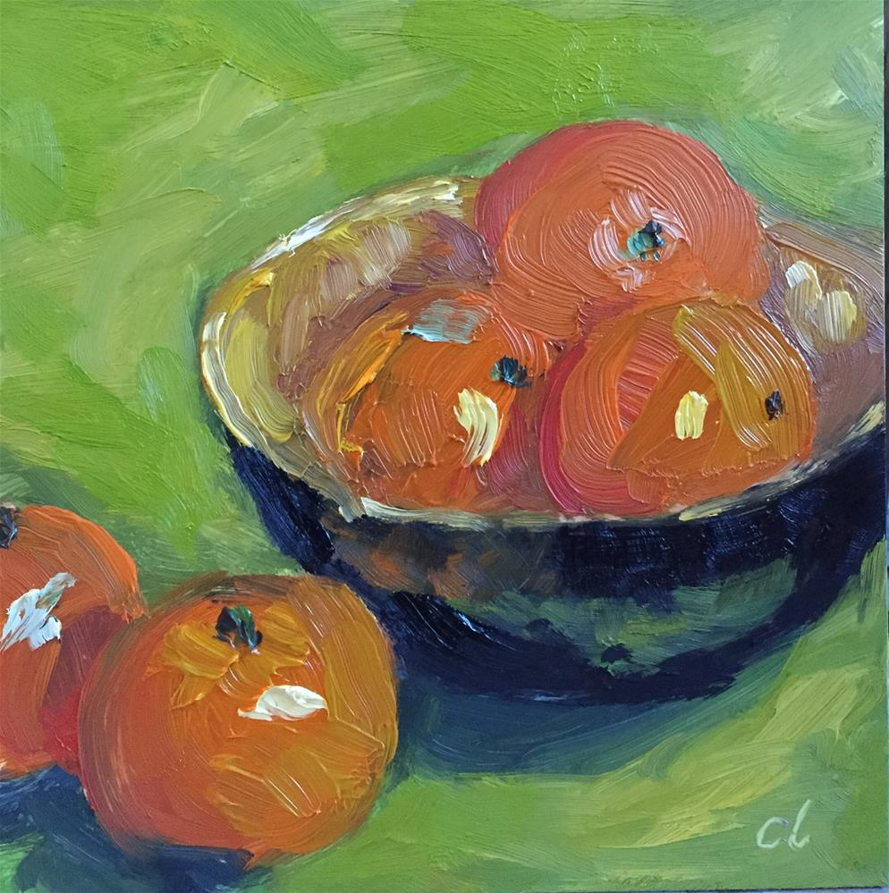 """A bowl of Cuties"" original fine art by Cheree Apalona Lueck"