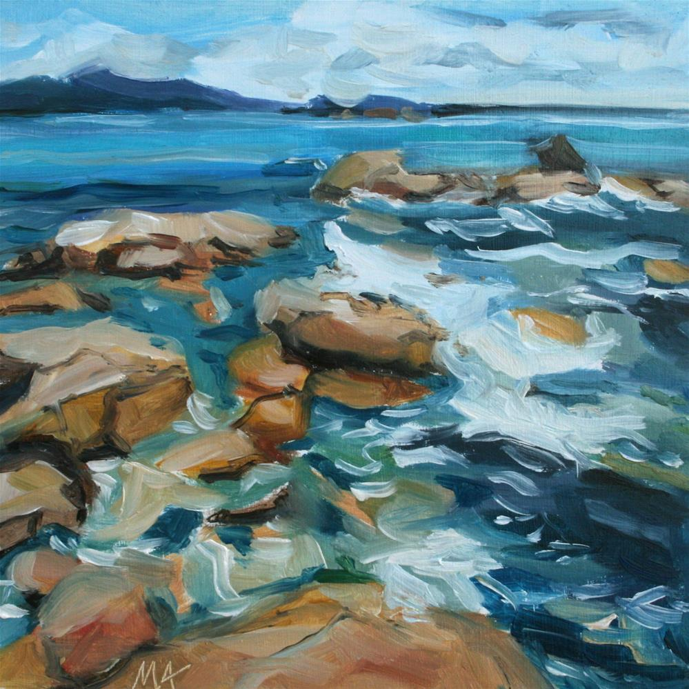 """Seascape"" original fine art by Aniko Makay"