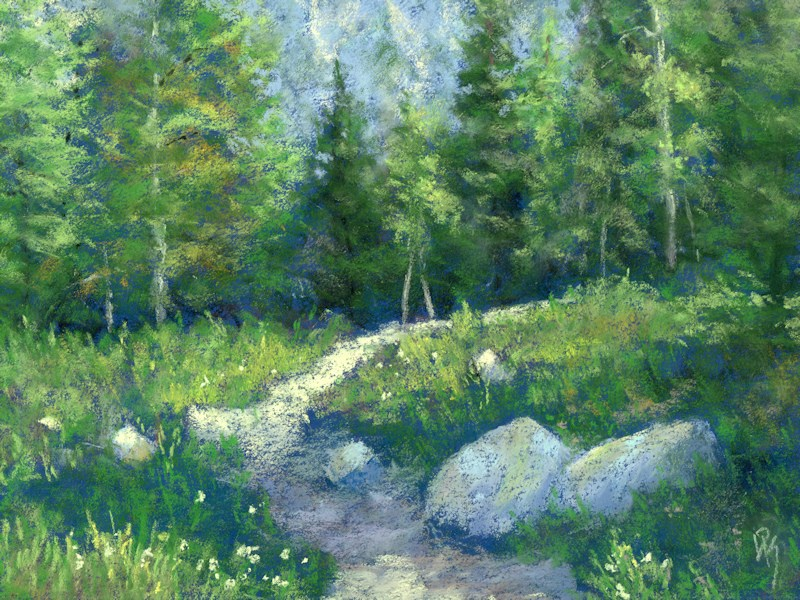 """Day Hike"" original fine art by David King"