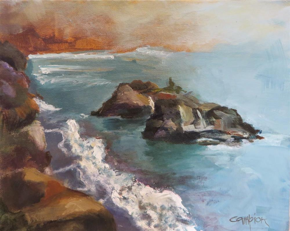 """563 The Headlands, Mendocino"" original fine art by Diane Campion"